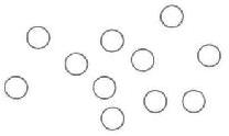Рис. 25. Потенциальные состояния в виде кружков