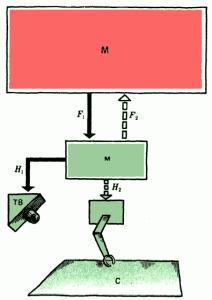 Рис. 1. Схема робототехнической системы «глаз» — «рука»