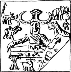 Рис. 31. Печать из Мохенджо-Даро