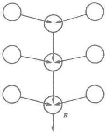 Рис. 5. Вариант базовой цепочной организации. Теперь имеются боковые цепочки, присоединенные к главной цепи